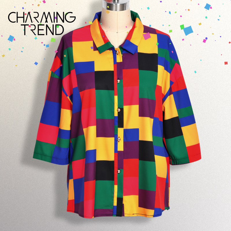 Vintage Blouse Coloring Shorts Sleeve