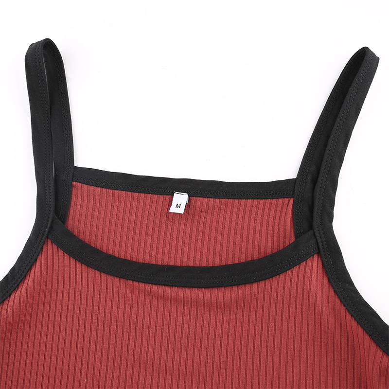 New Fashion Contrast Color Tank Top