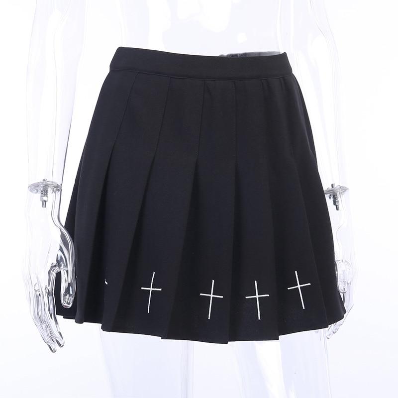 Mini Black Gothic Skirt