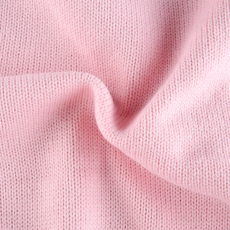 Pink Argyle Plaid Knitted Long Sleeve