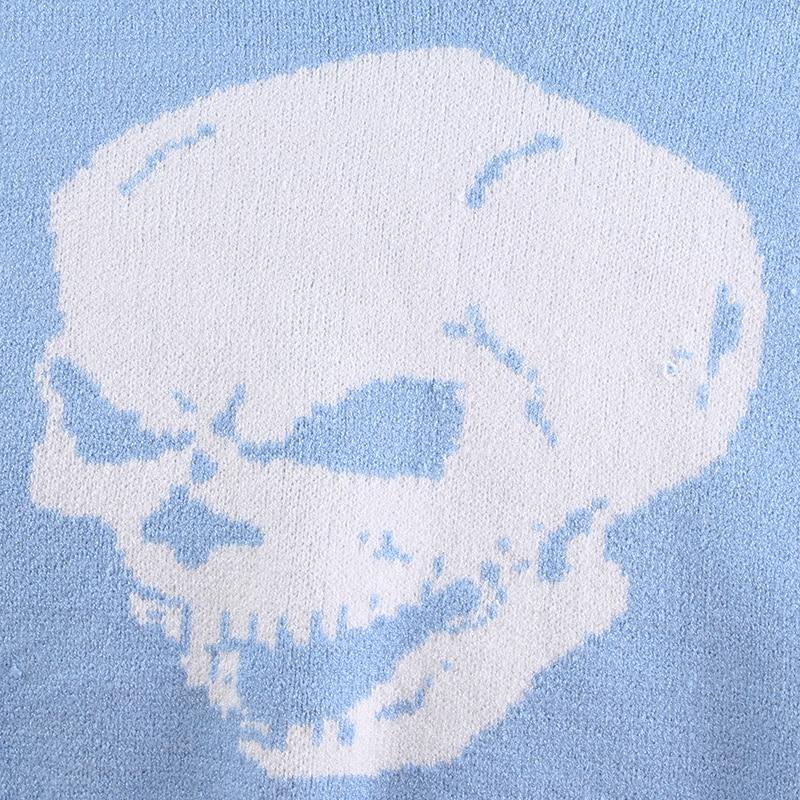 Y2k Knitwear Skull Print