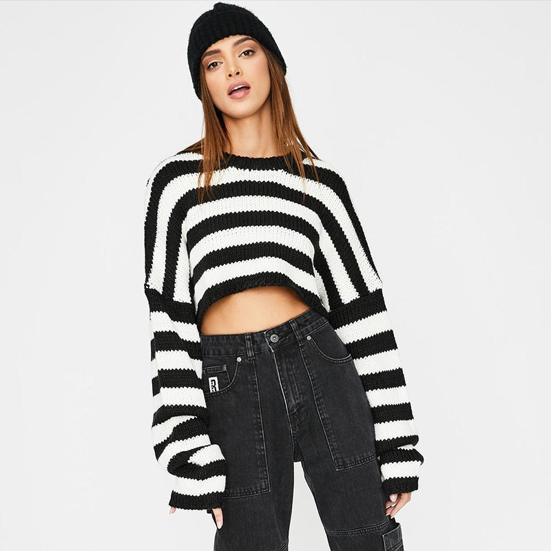 Gothic Loose Crop Sweaters