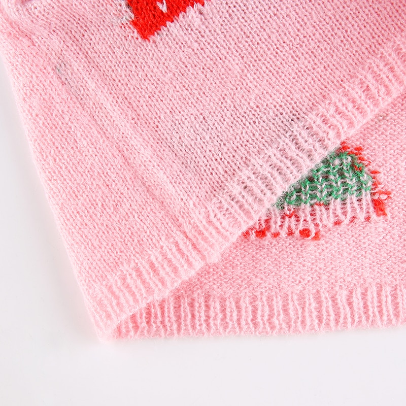 Strawberry Knitted Sweater Vest