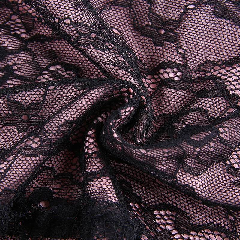 Lace Patchwork Y2K Skirt