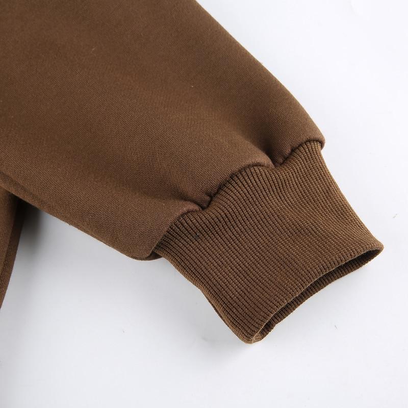 Brown Y2K Hoodies