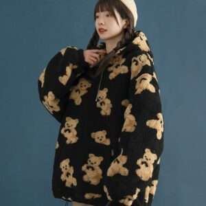Cute Bear Hoodies With Pocket