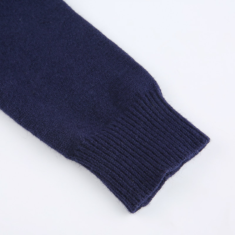 Blue Knitted Sweater Long Sleeve