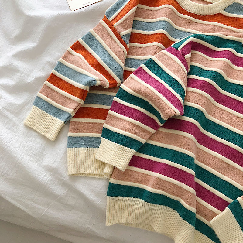 New Student Striped Sweater