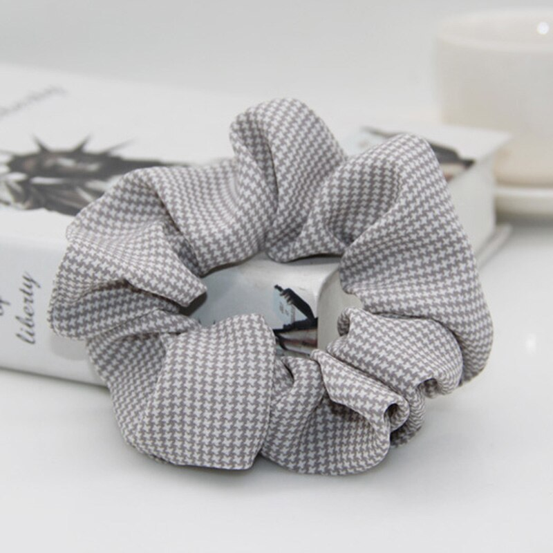 Plaid Print Scrunchies