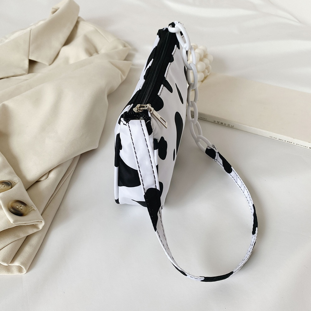 Cow Milk Print Handbag