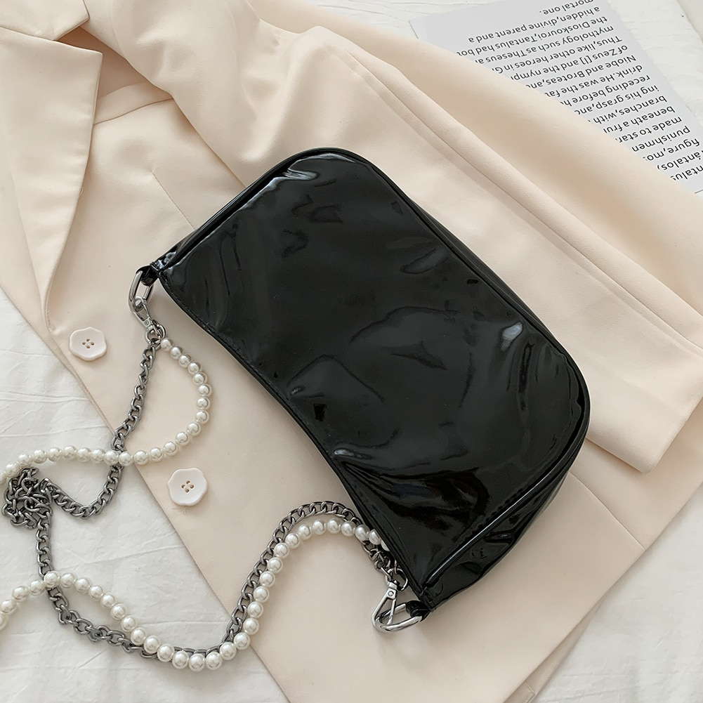 Butterfly Pearl Chain Shoulder Bag