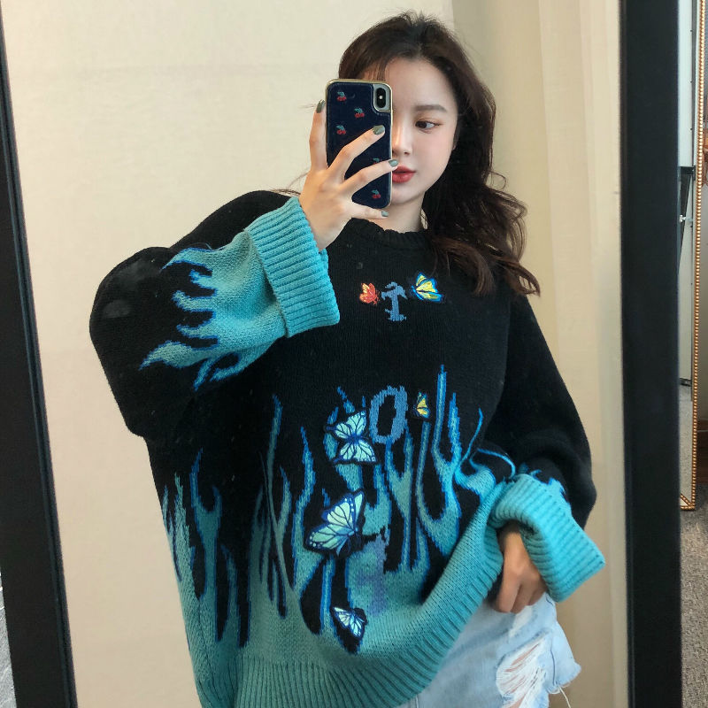 Butterfly Flame Knit Sweater