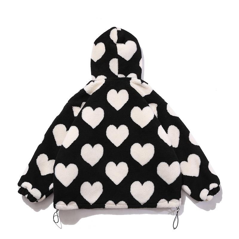 Heart Hooded Fleece