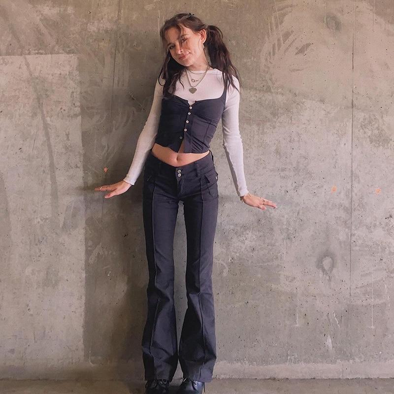 Black Flared trousers