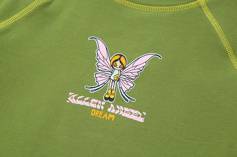 Y2k Butterfly Graphic Crop Top